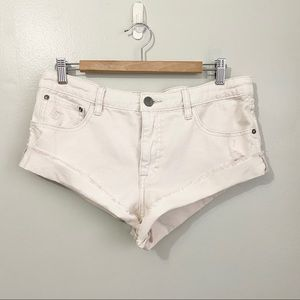 Free People Off White Jean Shorts Size 28